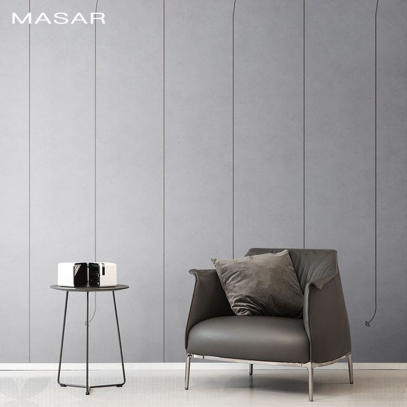 MASAR Simple Fashion Grey Mural High-end Business Background Wall Bedroom Living Room Dining Room Wallpaper Up And Down