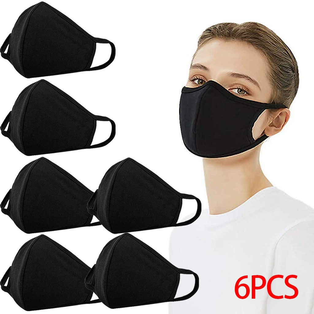 3/6pcs Covers Reusable Dustproof Cover Dust Cover Pm2.5 Windproof Foggy Haze Pollution Respirato Breathable Mouth Face Cover