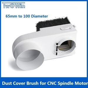 Image 1 - 65mm/85mm/100mm/125mm 직경 집진기 먼지 커버 브러시 cnc 스핀들 모터 밀링 머신 라우터 목공 도구