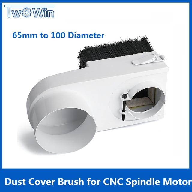 65mm/85mm/100mm/125mm 직경 집진기 먼지 커버 브러시 cnc 스핀들 모터 밀링 머신 라우터 목공 도구