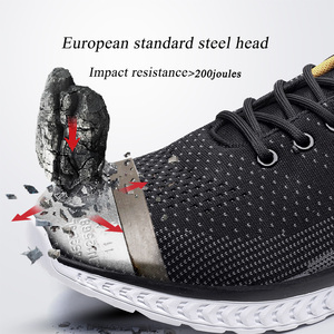 Image 3 - Work Shoes Men European Standard Steel Toe cap ,Lightweight Sneakers,Breathable Anti smashing Mesh Casual safety Shoes for mens