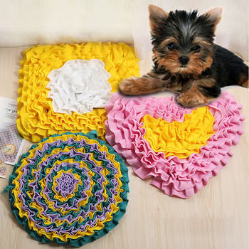 Pet Dog Snuffle Mat Anti Choking Training Dog Blanket Beds Dog Mat Relieve Stress Nosework Puzzle Pet Toys For Dogs Pet Nose Pad 1