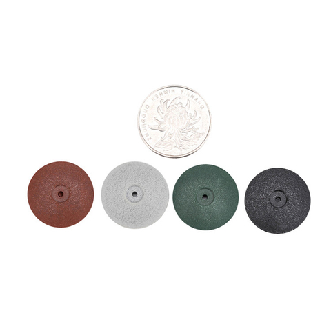 100pcs dental lab polimento rodas burs polidores de borracha de silicone do disco de moagem