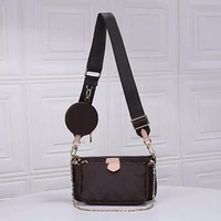 three piece Clutch Luxury Women Bags Designer Real Leather Cowhide TOP Fashion Brand Small Purse Ladies Shoulder Crossbody bag