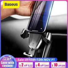 Baseus Soporte de coche Gravity para iPhone y Samsung, 360 grados, GPS, soporte de teléfono móvil