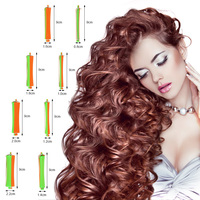 80pcs/set DIY Cold Perm Rod Salon Hair Roller Curling Curler Rubber Band Hair Clip Hairdressing Styling Hair Roller