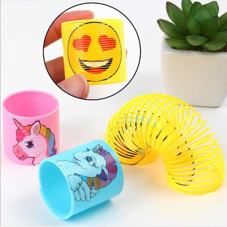 12 pièces cadeaux créatifs jouets pour enfants Hulk fête faveurs pour enfants anniversaire licorne visage ressorts hélicoïdaux joyeux anniversaire en gros
