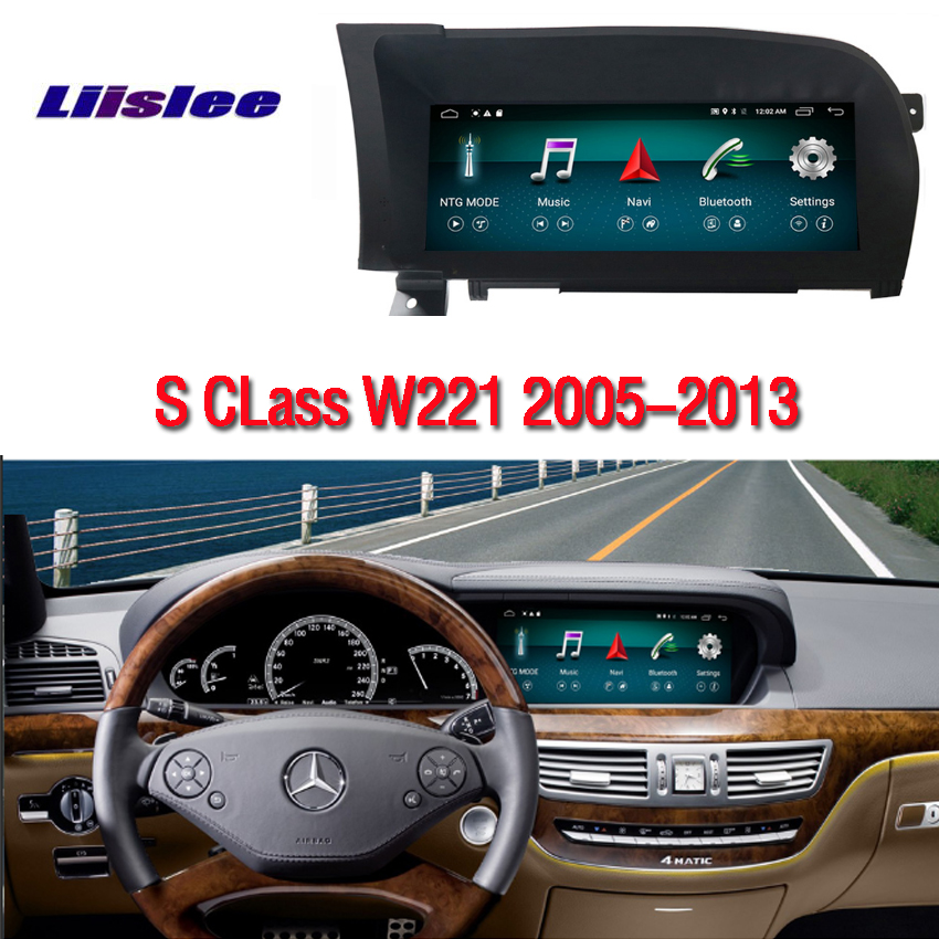 For Mercedes <font><b>Benz</b></font> S Class W221 2005 2006-2013 Car Radio Screen with GPS Navigation Bluetooth <font><b>10.25</b></font> <font><b>inch</b></font> 4G+64G <font><b>Android</b></font> Display image