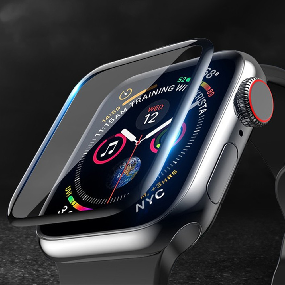 Мягкое стекло для Apple Watch, ремешок для apple watch 5, 4, 3, 44 мм, 40 мм, 42 мм, 38 мм, Защитная пленка для iwatch, аксессуары для apple watch