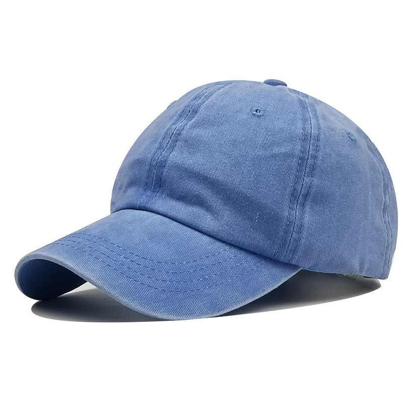 Boné masculino de algodão, chapéu tipo beisebol em várias cores bordado