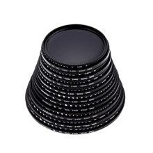 Andoer 49/52/55/58/62/67/72/77/82/мм ND Fader нейтральная плотность Регулируемый ND2 до ND400 переменный фильтр для Nikon Canon DSLR Camer