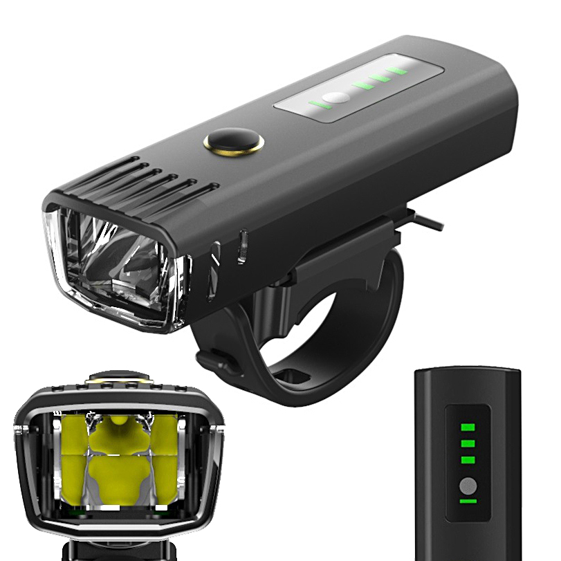 Bike Light USB Rechargeable 650 Lumen Bicycle Front Light Lamp Cycling Smart Light LED For Xiaomi Electric Scooter Motorcycle