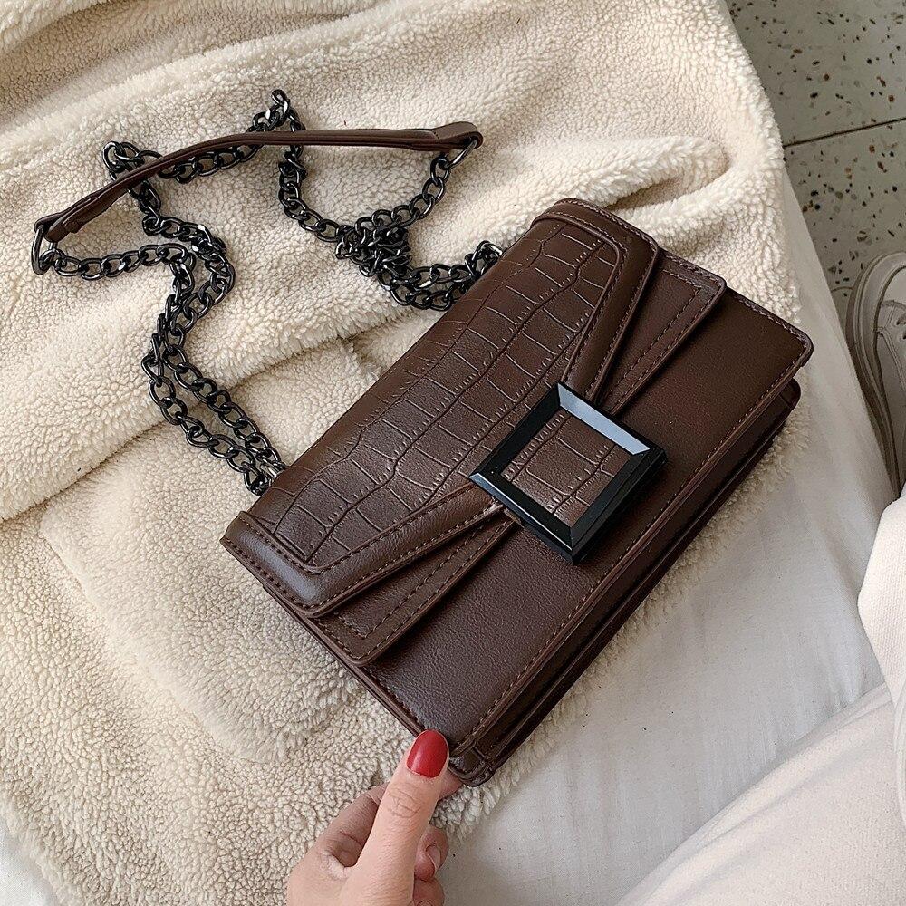 2020 Fashion Crocodile Women's Crossbody Bags Handbag Vintage Shoulder Messenger Bag Ladies Clutch Casual Totes Female Purse