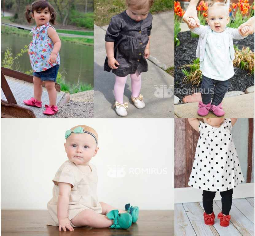 Toddler Infant Kids Baby Girl Fringe Butterfly Knot Slip On Leather Boat Shoes