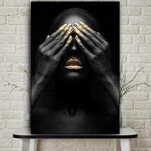 Pojedyncza afrykańska kobieta płótno malowanie ścian Mural dekoracyjne malowanie natryskowe wystrój pokoju dekoracje ścienne tanie tanio CN (pochodzenie) Płótno wydruki Pojedyncze Wodoodporny tusz Portret Bezramowe lustra Realist Pionowe Prostokąta Still Life Pattern
