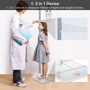 Image 1 - Height Rod Stadiometer Foldable Child Height Meter & Scale 2 in 1, Measuare 79 Inch & 200lbs