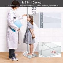 Stadiómetro de varilla de altura medidor de altura plegable para niños y escala 2 en 1, Measuare 79 Inch & 200lbs