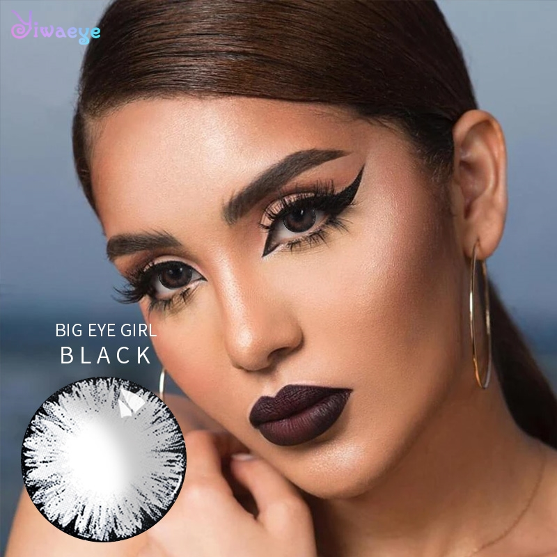 Big Eye Girl Black Colored Contacts Lenses For Eyes Cosmetic Lens