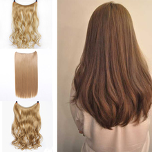 Hairpiece Fake Fish-Line Brown False Straight Natural Synthetic Women DIANQI