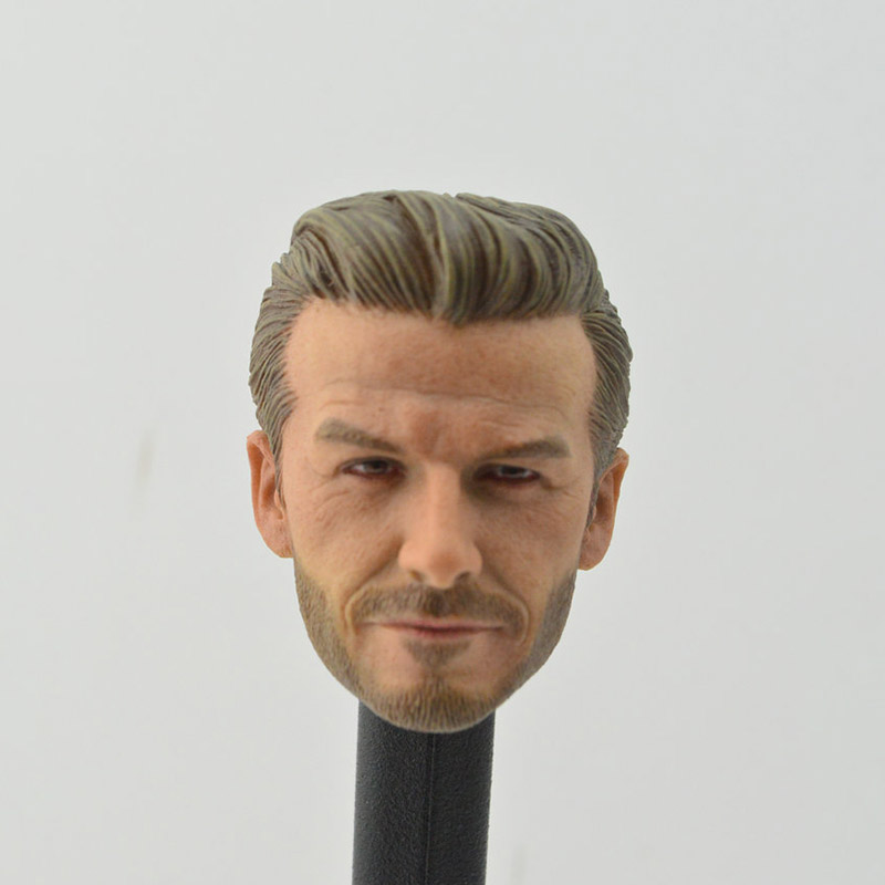 """1/6 Scale male Football Athlete Star David Beckham Middle Age VersionHead Sculpt Head Carving Headplay F 12"""" Action Figure Body"""