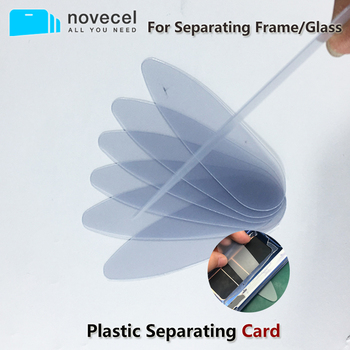 Novecel 100pcs Plastic Separating Card for Separating Frame Glass for Samsung Galaxy S6 edge S7 ege Phone Mobile Repair Tools image