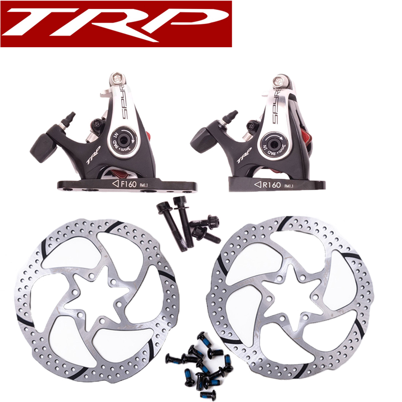 1 WHEEL TRP Spyre SLC Flat  Carbon Front  Disc Brake caliper  140mm or 160mm