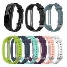 1 шт. Регулируемый сменный ремешок для часов силиконовый ремешок на запястье для Huawei Band 4e 3e Honor Band 4 Running