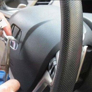 1x abs prata h logotipo alta qualitycarro volante emblema da roda de direção emblema do volante adesivo estilo do carro acessórios automóveis
