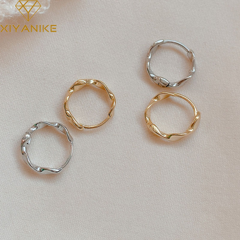 XIYANIKE Minimalist 925 Sterling Silver Stud Earrings Charm Women Girl Trendy Elegant Party Jewelry Gifts Prevent Allergy