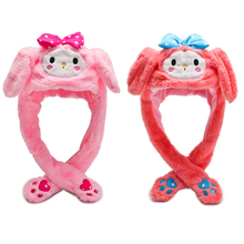 LED Pinching Ear To Move Vertically Plush Toys Hat Glowing Moving  Electronic Toy Stuff Soft Birthday Party Gift