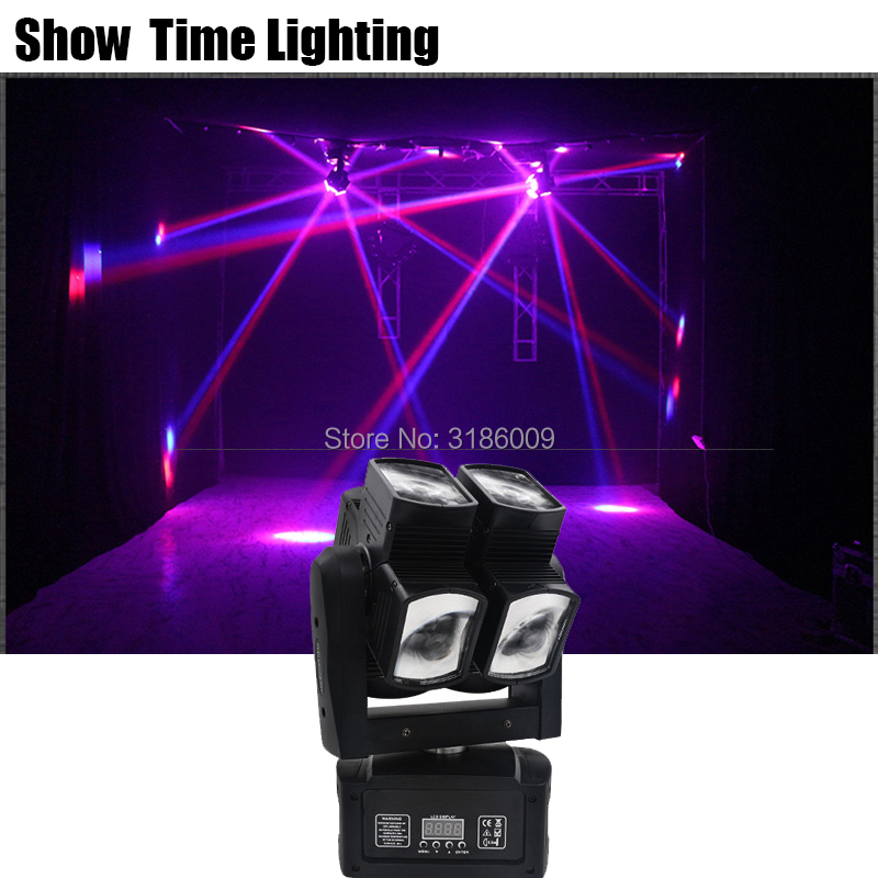 Rotación ilimitado 8X10 W RGBW 4IN1 Dj Led Cruz cabeza móvil luz buen uso para fiesta KTV Bar show home entretenimiento danza