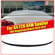 цена на For BMW X4 F26 FRP Unpainted Rear Spoiler Wing Trunk Tail Lip X Series X4M Style sedan duckbill Diffuser Wings Spoiler 2014-2017