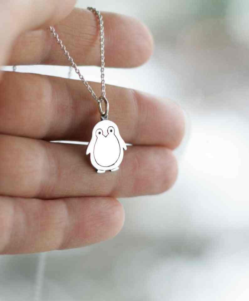 สร้อยคอเพนกวิน Penguin charm คริสต์มาสของขวัญเครื่องประดับสำหรับผู้หญิง