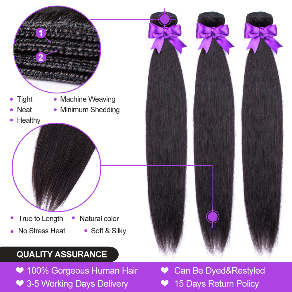 Brazilian Straight Hair Bundles With Closure 3 Bundles Human Hair Weave Bundles With Closure Hair Brazilian Straight Hair Bundles With Closure 3 Bundles Human Hair Weave Bundles With Closure Hair Extensions Fashion Queen