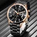 2020LIGE новые мужские часы Топ бренд класса люкс спортивные часы с хронографом из нержавеющей стали водонепроницаемые кварцевые часы мужские ...
