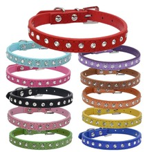 Rhinestone-Accessories Pets-Breakaway-Collars Chat Chihuahua Collier Dogs Kitten Small