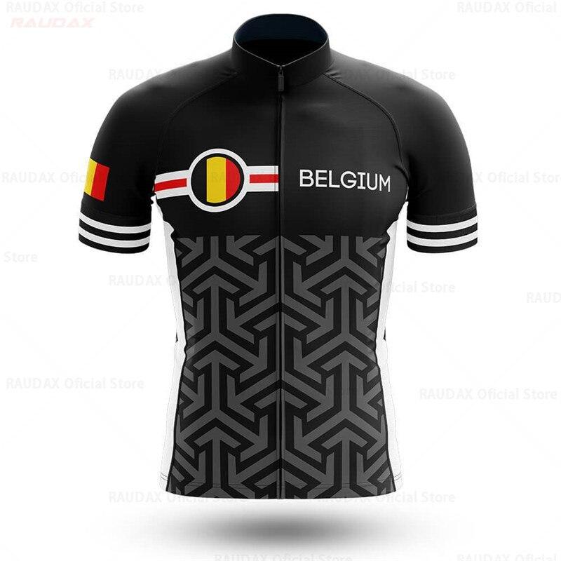 Belgium 2020 Rapha cycling Sweatshirt MTB cycling summer new short sleeve breathable quick drying men's Sweatshirt top customiza