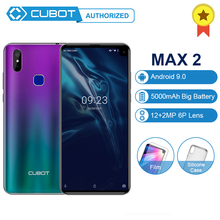 "Cubot Max 2 Android 9,0 MT6762 Восьмиядерный мобильный телефон 5000 мАч 4 Гб ОЗУ 64 Гб ПЗУ 6,"" FHD+ смартфон 12MP+ 2MP/8MP 4G LTE телефон"