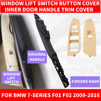 Car Front Left / Right Side Black Inner Interior Door Pull Handle Panel Carrier Trim Cover For BMW 7 series F01 F02 730 2009 16