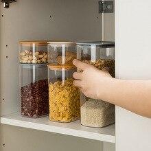 цена на Food Storage Container Plastic Kitchen Refrigerator Noodle Box Multigrain Storage Tank Transparent Sealed Cans