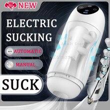 Electric Sucking Automatic Male Masturbator Real Pussy Contraction Vacuum Sucke Blowjob Masturbation Machine Sex Toys For Men