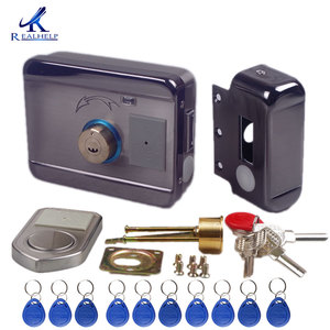 Image 2 - AA Dry Battery Easy Install Smart Lock  RFID Electronic Locker Door Lock Wireless Rfid Electronic Battery Proximity Card Lock