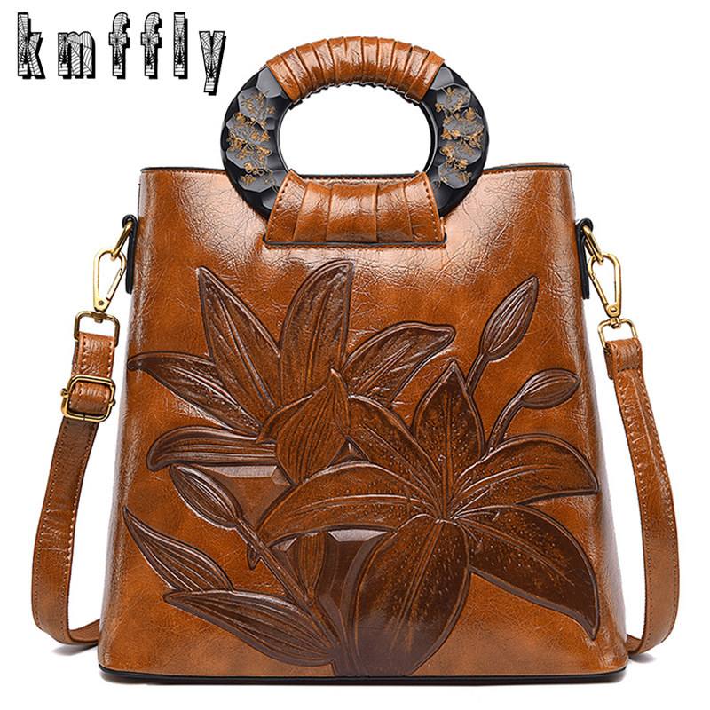 Brown Luxury Handbags Women Bags Designer High Quality Leather Handbag Fashion Shoulder Crossbody Bag For Women 2019 Tote Bag