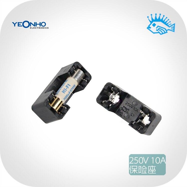 1pcs/5pcs Korea Yeonho 250V 10A Fuse Holder PCB Soldering Plate Mounting 5x20mm Fuse