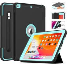 Heavy Duty 2019 2020 iPad 10.2 7th 8th Gen Case With Pencil Holder For iPad 9.7 2017/2018 5th 6th Generation Cover Air 2