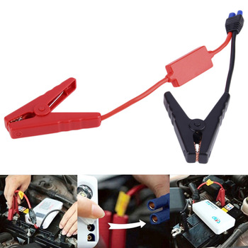 High quality clips for car emergency jump starter / Auto engine booster storage battery clamp accessories connected in stock image
