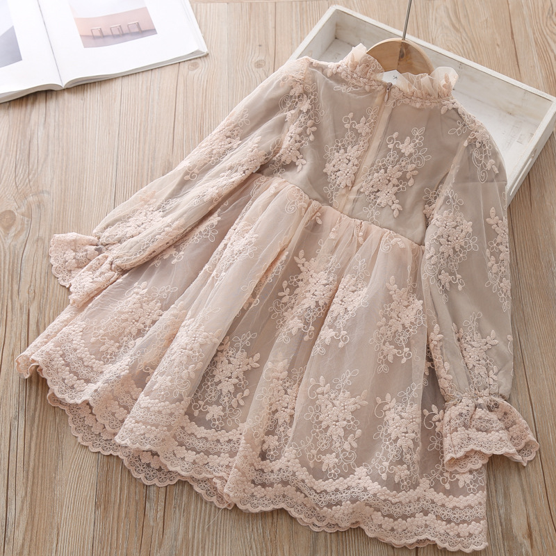 Girls Dress Princess Party Dress Children's Elegant Lace Long Sleeves Dresses Baby Clothes Casual 3 8 Yrs Kids Dresses for Girls 4