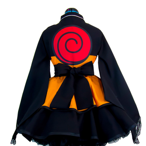 Image 2 - Naruto przebranie na karnawał Uzumaki Naruto sukienki w stylu lolity Kimono kobiety sukienka Anime Cosplay impreza z okazji Halloween mundury peruki