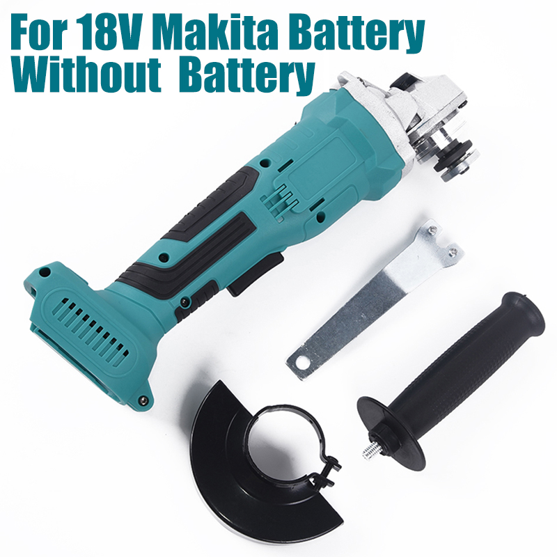 For 18V Makita Battery 100mm Brushless Wireless Impact Angle Grinder Head Tools Kit Without Battery Durable 2020 New Grinder