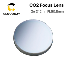 Cloudray High Quality Ge Focusing Lens for CO2 Laser Engraving Cutting Machine  DIa. 12mm Focal 50.8mm 2